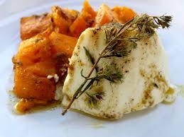 cuisine potimarron ricotta et potimarron rôtis au four sauce miel ail et thym