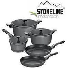 batterie de cuisine en stoneline stoneline set batterie de 8 pieces en imagination achat