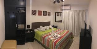 bedroom with ac tv closet fan safe and wifi picture of casa