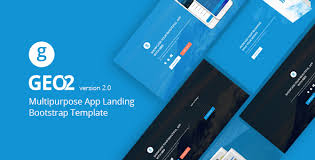 geo responsive multipurpose bootstrap 3 app landing page