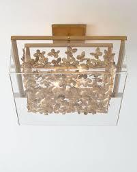 gold flush mount light gold ceiling lighting neiman marcus