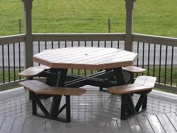 Octagon Patio Table Plans Luxcraft Poly Octagon Picnic Table Swingsets Luxcraft Poly