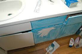 how to paint a laminate bathroom vanity thumbnail for the home
