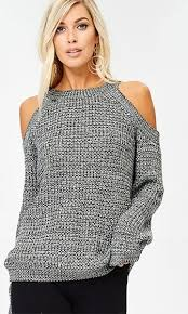 shoulder cut out blouse with open arms sleeve cold shoulder cut out pullover sweater