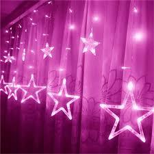 decorative 138 led pink lights 3m w x 1m h ac