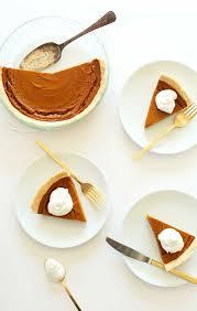 gluten free desserts thanksgiving vegan gluten free pumpkin pie minimalist baker recipes