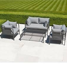 Steel Patio Furniture Sets by Alexander Rose Portofino Steel And Mesh Garden Furniture