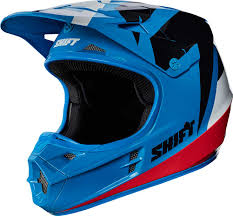 blue dirt bike boots shift white label tarmac helmet 2017 mx motocross off road atv