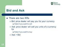 bid rate exchange rates bill reese international finance ppt