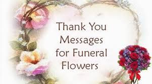 thank you for funeral flowers thank you message funeral flowers jpg