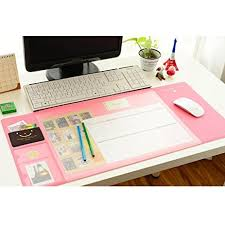 Office Desk Pad Large Mouse Pad Multi Function Desk Mouse Mat Pink