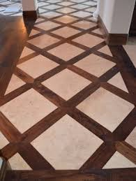 Kitchen Tile Floor Designs by 2x4 Faux Brick Floor With Wood Blocks Wooden Blocks For Fake