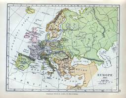 Vienna Map Europe In 1815 After The Congress Of Vienna