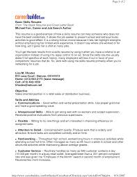 Resume Skill Section Cover Letter Examples Of Resume Skills Examples Of Resume Skills
