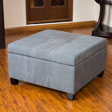 leather storage ottoman coffee table with tray thippo