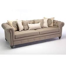 Beige Tufted Sofa by Patrick Chesterfield Tufted Premium Linen Sofa Free Shipping