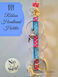 how to make a headband holder greneaux gardens diy ribbon headband holder tutorial no sew