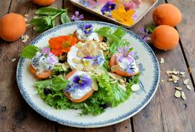 edible flowers provençal stuffed apricot goat s cheese salad with edible