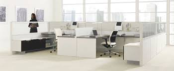 Office Table With Partition Workstation Desk Wooden Metal Contemporary Leverage Teknion