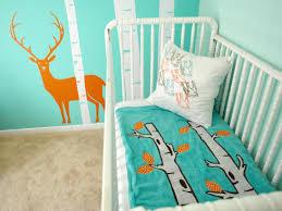 Boy Nursery Wall Decals by Real Room Aqua Woodsy Boy U0027s Nursery Buymodernbaby Com