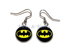 batman earrings batman earrings etsy