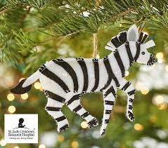 st jude zebra ornament pottery barn