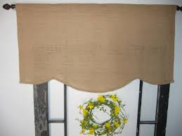 Lined Burlap Curtain Panels Decor Lined Burlap Curtains And Burlap Valance