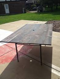diy patio table using fence boards great solution for glass tops