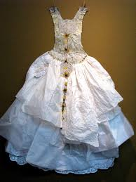 recycled wedding dresses forest city fashionista franky s recycled paper laundry
