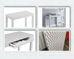 White Parsons Desk Parsons Desk With Drawer White With Chevron Pattern Top