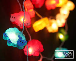 newa lights 20 rainbow colorful paint sheep mulberry paper lanterns fairy lights string lights christmas lights bedroom kid