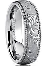 can titanium rings be engraved 8mm titanium ring wedding band with engraved floral