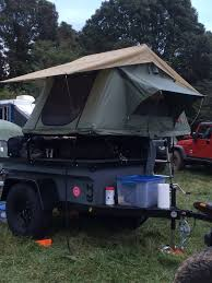jeep grand cherokee roof top tent overland options roof top tent with rack vs offroad trailer with tent