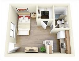 One Bedroom Apartment Floor Plans by One Bedroom Apartment Plans And Designs Small Studio Apartment