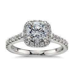 cushion ring cushion halo diamond engagement ring in platinum 1 3 ct tw