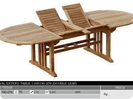 Expandable Patio Table Tables Oval Expandable Teak Patio Table South Seas Trading