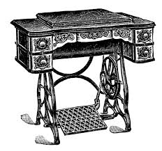 Sewing Machine With Table Vintage Clip Art Antique Sewing Machine U0026 Table The Graphics Fairy