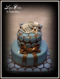 blue u0026 brown baby shower cake the hidden cakery