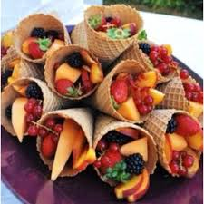 fruit cornucopia platter fruit thanksgiving and waffle cones
