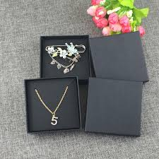 black necklace box images 12set black jewelry box jewelry cards earring necklace box blank jpg