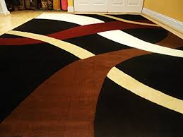 Modern Black Rugs New Modern Black 8 11 Rug Black Wavy 8 10 Carpet Contemporary Rugs