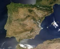Iberian Peninsula Map Satellite Image Photo Of The Iberian Peninsula Writing