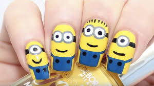 easy minion nail art tutorial perfect for your kids
