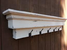 wall mount coat hook with shelf
