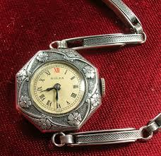 antique rolex sterling silver wristwatch vintage estate