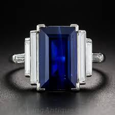 sapphire emerald cut engagement rings 5 00 carat emerald cut sapphire and baguette ring