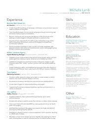 Copywriting Resume Resume U2013 Michelle Lamb Design