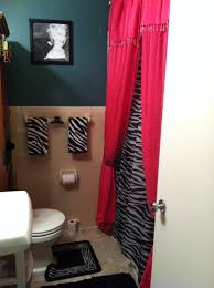 megans bathroom cute pink and zebra bathroom