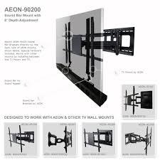 full motion corner tv wall mount amazon com soundbar speaker mount with depth adjustments for tv
