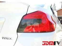 jdm subaru emblem precut smoked blinker reverse tail light overlays tint 15 17 wrx
